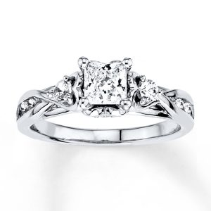 1 ct Princess Cut Diamond Engagement Ring – White Gold