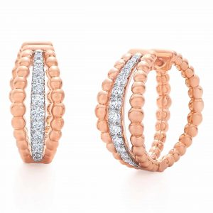 Kwiat Beaded Diamond Hoop Earrings