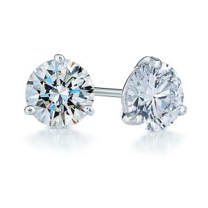 1.50ct tw Diamond & Platinum Stud Earrings