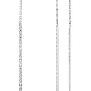 Double-G Diamond Pendant Drop Earrings