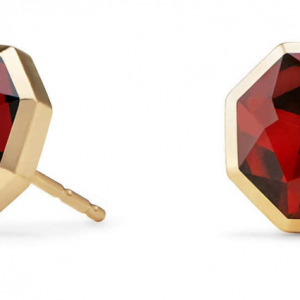 Guilin Octagon Earrings in 18K Gold